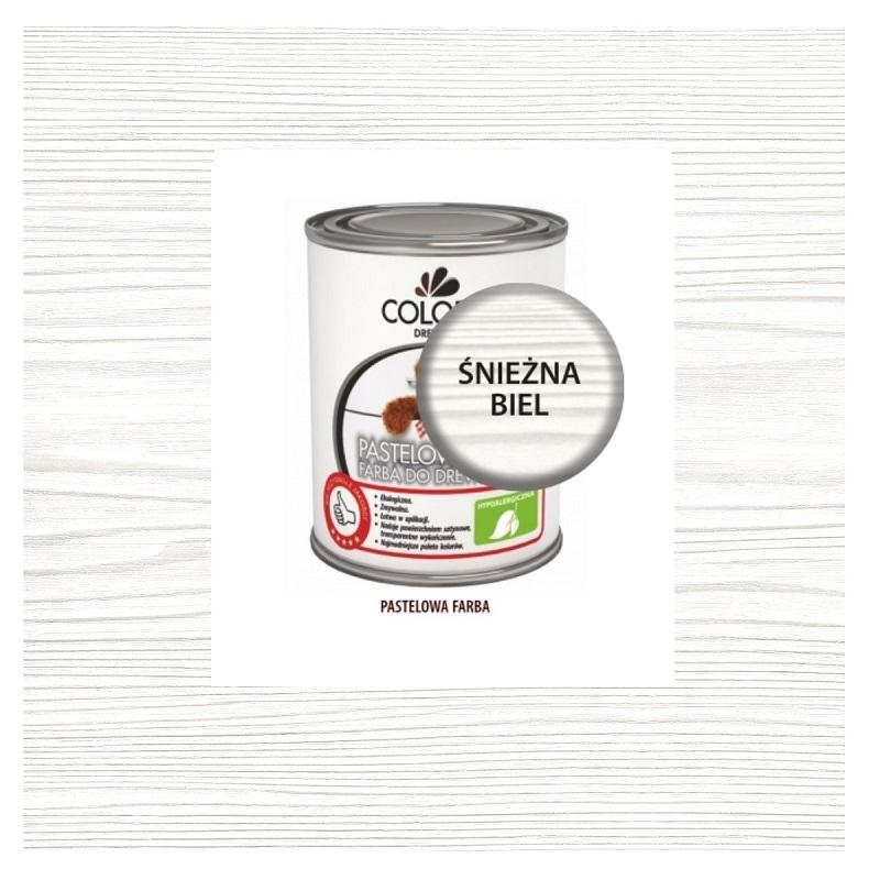 Wspaniały Pastelowa Farba Do Drewna Colorit 0,375 l ŚNIEŻNA BIEL PX86